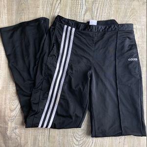 adidas | 3 Stripe Black Track Pants Medium